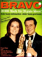 Bravo cover featuring Diana Rigg and Patrick Macnee.