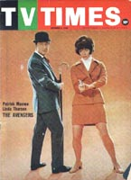 Australian TV Times cover featuring Patrick Macnee and Linda Thorson.