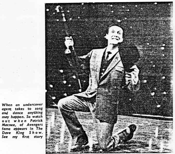 Picture of Patrick Macnee on stage