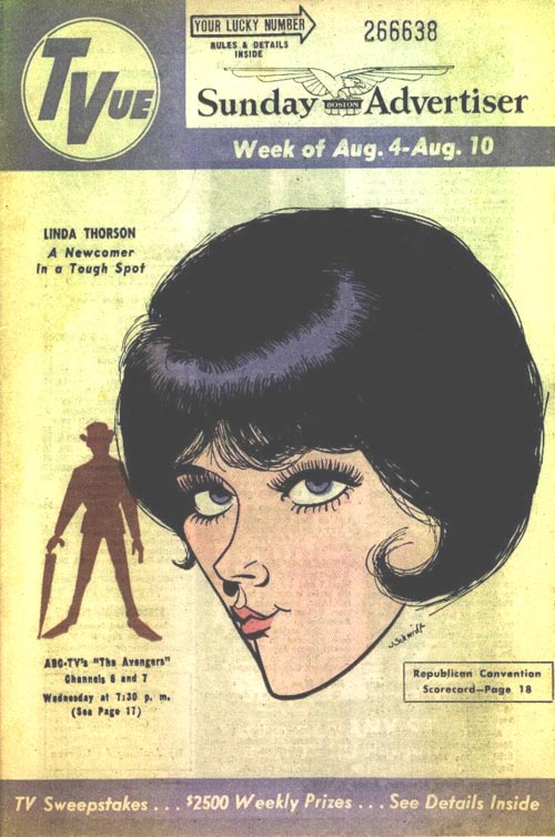 Cover of TVue magazine Aug 68