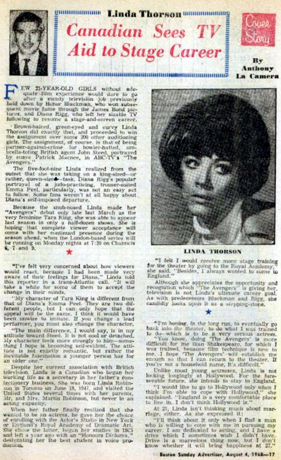 Article from TVue magazine, August 68.